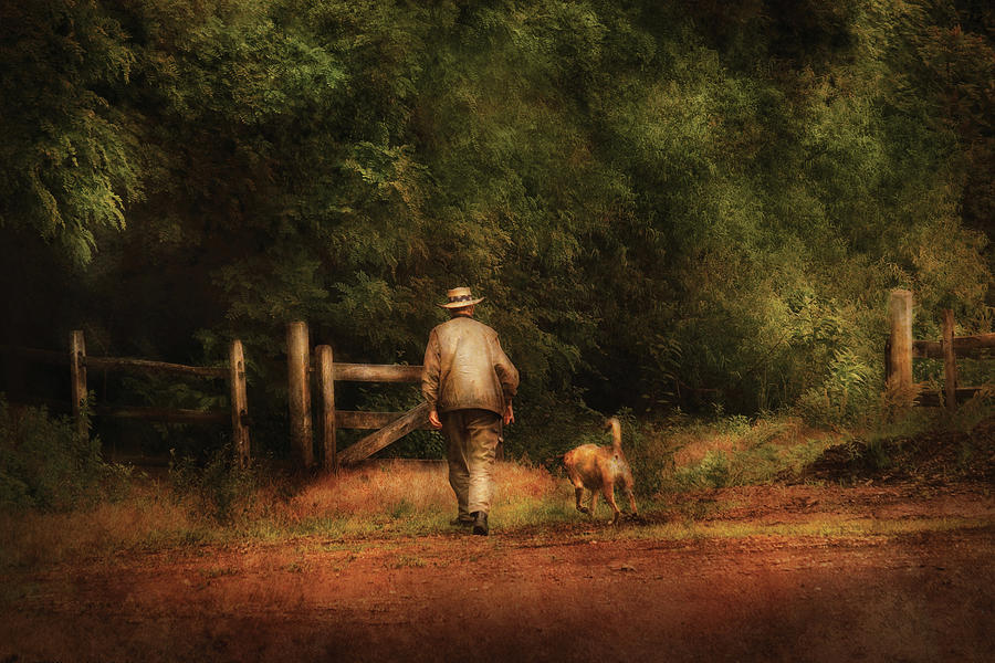 Image result for man approaching the pearly gate with his dog